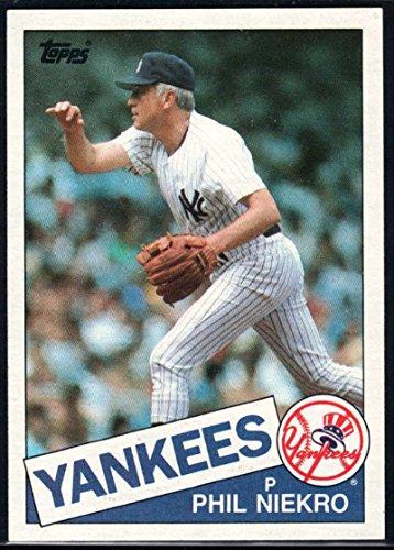 Baseball MLB 1985 Topps #40 Phil Niekro Yankees