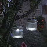 Smart Garden Solar Cornish Jar light Lantern (2 per box) by Smart Garden
