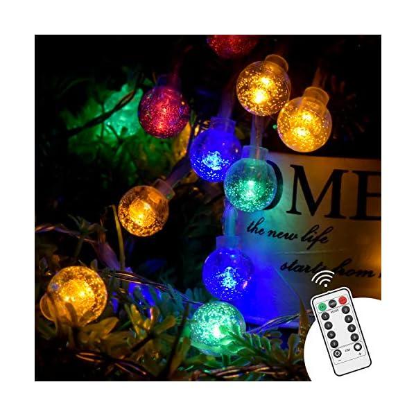 Luce della stringa,Tececu luce decorativa esterna 50 Palla LED USB, Catene Luminose 5M con 8 Modalità, per Interno/Esterno, Feste, Giardino, Natale, Matrimonio, Albero di Natale, Terrazzo 1 spesavip