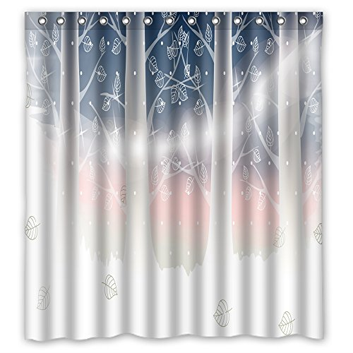 MaSoyy The Tree Bath Curtains Of Polyester Width X Height / 72 X 72 Inches / W H 180 By 180 Cm Decoration Gift For Custom Kids Kids Him Kids Boys. Easy Clean (fabric)