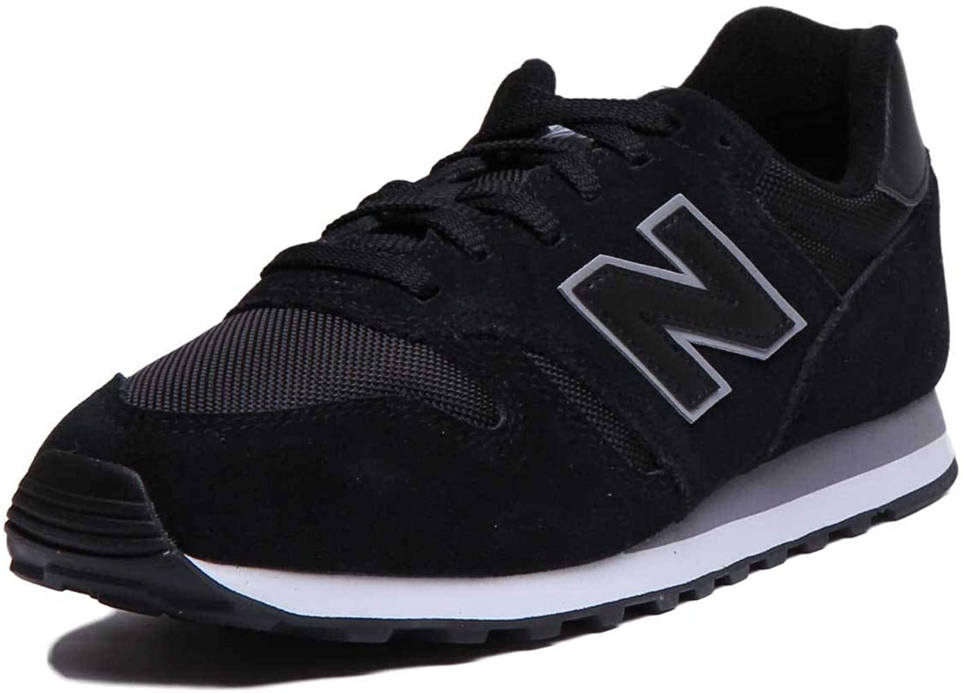 Amazon.com: New Balance Ml373Bbk - Zapatillas de piel de ...