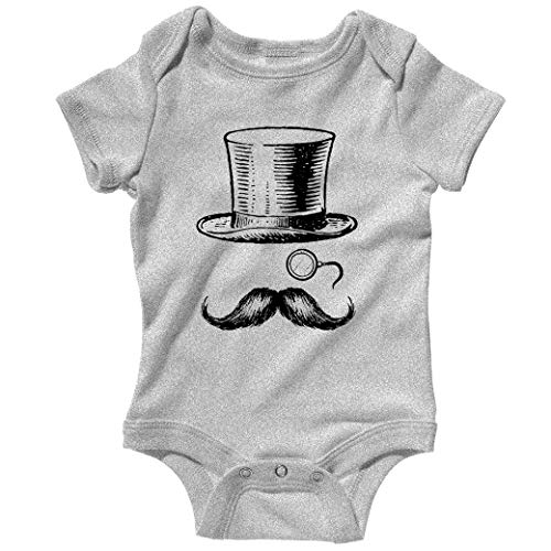 Smash Transit Baby Monocle Man Creeper - Heather Gray, 12M ()