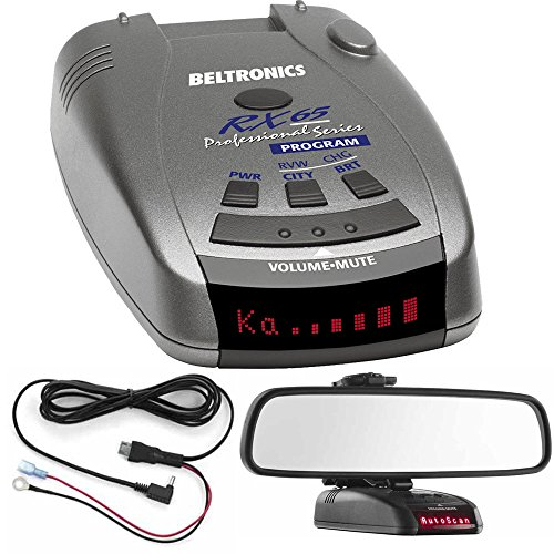 Beltronics RX65 Red Professional Series Radar/Laser Detector with Accessories Bundle (Blue)