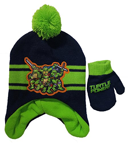 Teenage Ninja Turtles TMNT Striped Scandinavian Hat and Mitten Set - Toddler [4013]