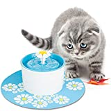 BEDOG CARE Pet Fountain Automatic Water Dispenser for Dogs and Cats,Quiet Operation with Reliable Pump Healthy and Hygienic Dog Fountain (Flower Fountain) (Blue)