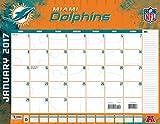 "Turner Licensing Sport 2017 Miami Dolphins Desk Pad Calendar, 22""X17"" (17998061541)"