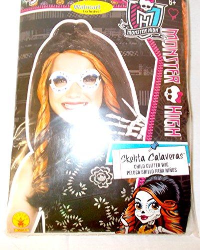 Monster High Skelita Calaveras Child Glitter Wig OSFM -