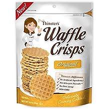 Mrs. Thinster's Waffle Crisps, Original Flavor, Non-GMO, No Artificial Flavors, Colors, Preservatives, Peanut-Free, 3.5oz Bag, Pack of 12