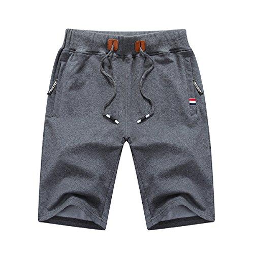 CHT Algodón Ocasional Pantalones De Algodón De Los Hombres Cinco Pantalones Vacaciones En La Playa Grey
