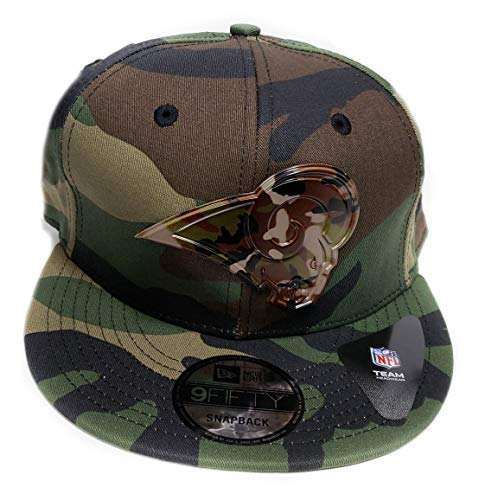 - New Era 9Fifty Army Camo Capped Adjustable Snapback Hat (Los Angeles Rams)