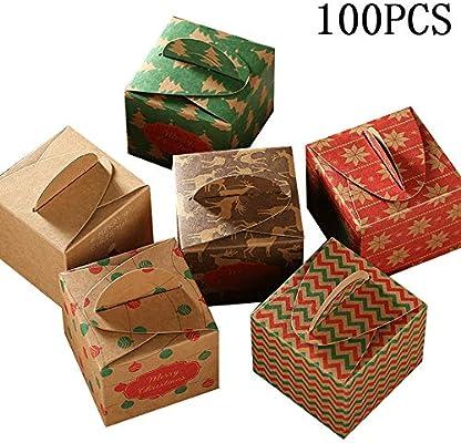Cajas del caramelo mini fiesta de Navidad de cartón Cajas de ...