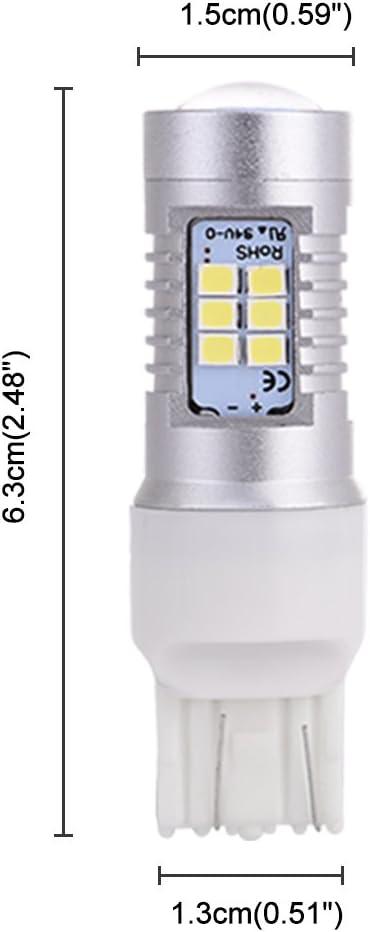 Daytime running light Turn Signals Lights and Side Marker Lights 2pcs Reverse Lights Brake Lights Catinbow 7443 LED Bulbs Super Bright 1200 Lumens 21 SMD Used for Car Tail Lights