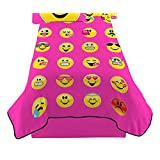 Emojination Happy Emoji Twin Sized Plush Blanket