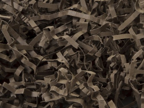Chocolate Eco Fill Paper Shreds 6 lb Box ~ 100% Recycled - WRAPS-EFZS6CH by Miller Supply Inc