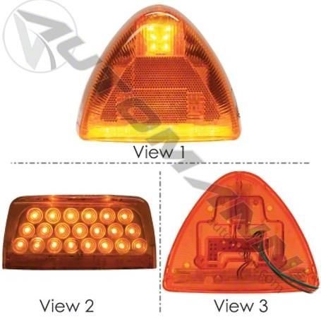 Peterbilt 357, 378, 379 Amber LED Turn Signal LH or RH 31 Diodes - Peterbilt 379