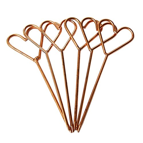(Copper Heart Cocktail Picks-Set of 4 by Alchemade)