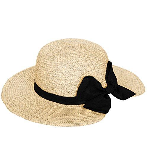 Women's Vintage Classic Derby Panama Hat Floppy Wide Brim Summer Style Beach Hat
