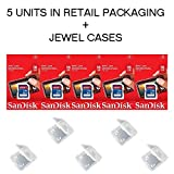 Lot of 5 SanDisk 16GB SD SDHC Class 4 Flash Memory Camera Card SDSDB-016G-B35 Pack + ( 5 Jewel Cases ) ...