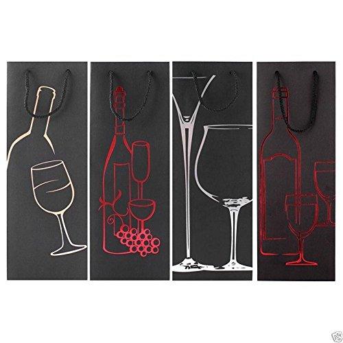 12buste regalo per bottiglia, ideali per Natale, feste e compleanni, per vini e liquori 12x Design 2 (8672) Tallon