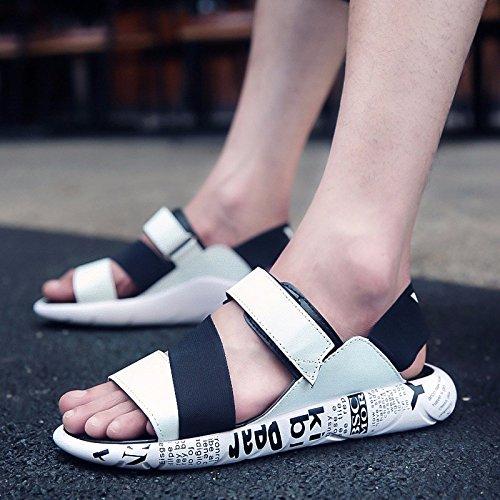 Uomini D'estate Trend Il nuovo sandalo studentesco Gioventù Tempo libero Scarpe antisdrucciolo sandali da spiaggia, bianco, UK = 6.5, EU = 40
