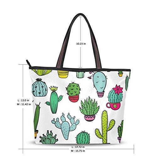 Mignon Doodle Cactus Fourre Alaza tout Grand Sac Épaule qwXZxYtT