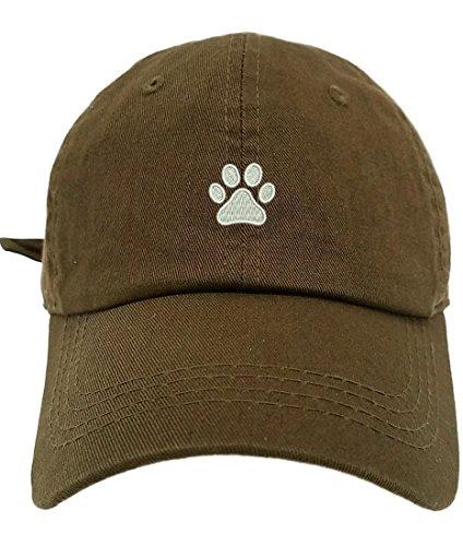 Unisex Dog Baseball Cap (TheMonsta Dog Paw Style Dad Hat Washed Cotton Polo Baseball Cap (Olive))