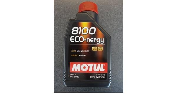 MOTUL 8100 eco-nergy 5 W30 Totalmente sintético Aceite de motor para las nuevas Cars Pack de dos de 1 litro: Amazon.es: Coche y moto