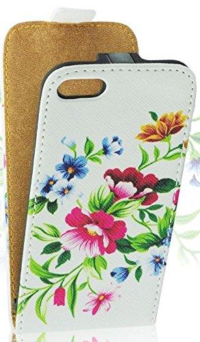 White Flower Flip Case For Samsung Galaxy S4 Mini La Amazon Co Uk