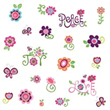 RoomMates RMK1649SCS Love, Joy, Peace Peel and Stick Wall Decals
