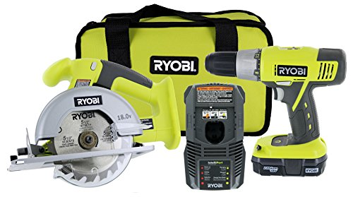 Ryobi P825 18V One+ Cordless Lithium Ion Power Tool Starter Kit (Includes 1/2
