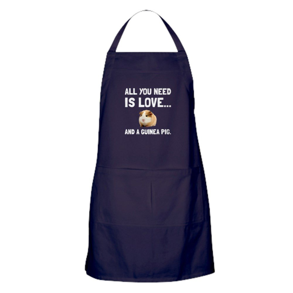 CafePress - Love And A Guinea Pig - Kitchen Apron with Pockets