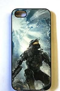 2015 CustomizedMaster Chief Apple iPhone 4 / 4S Black Case (314b) Halo