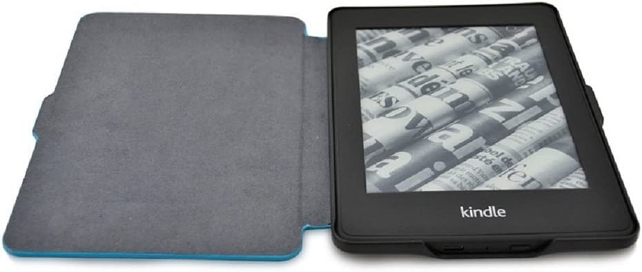Daorier Estuche de cuero negro Onyx,adecuado para todos los modelos Kindle Paperwhite 1//2//3 de cuero sint/ético antideslizante funci/ón inteligente para dormir despertar atril
