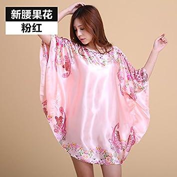 TAOTINGYAN Sleep Dress,Camisón,Pijamas Para Mujer Mm Hembra Suelta Grasa Vestido Faldón Corto