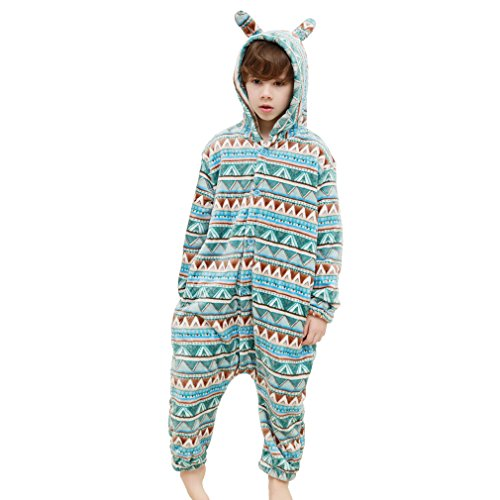 MICHLEY Winter Rompers Rabbit Style Cosplay Pajamas For Girls Boys Clearance Sale BLUE-S (Kids Rabbit Costume)