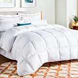 Lali Prints Ultra Soft and Plush Microfibre Comforter / Duvet - 250 GSM (King Size, White)