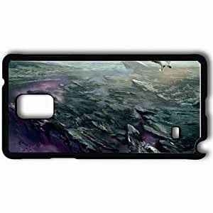 Personalized Samsung Note 4 Cell phone Case/Cover Skin Art Canyon Canyon Rocks Glow Lightning Black
