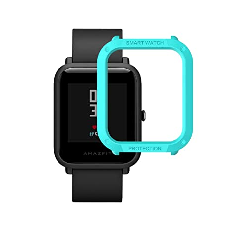 Sikai Slim Colorido Marco Caso Cubierta Proteger Shell para Amazfit Bip Younth Watch Lightweight Protector Case Funda para Xiaomi Huami A1608 Reloj ...