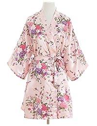 Cherry Blossoms Floral Kimono Robe Silk Nightgown Bridesmaid Robe/ Wedding Robe