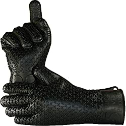 Verde River Products Gecko Grip Gloves Silicone Heat Resistant Grilling Bbq Oven Grill Baking Smoking And Cooking Gloves Med Large Black