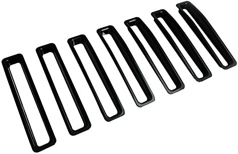 EAG Grille Insert Black ABS Trim Front Grill Open 7PCS for 97-06 Jeep Wranngler TJ