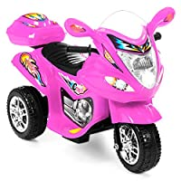 Best Choice Products Kids 6V Electric 3-Wheel Motorcycle Ride-On with LED Lights/Sound, Storage