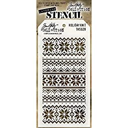 Stampers Anonymous Holiday Knit Tim Holtz Layered Stencil, 4.125-Inch by 8.5-Inch