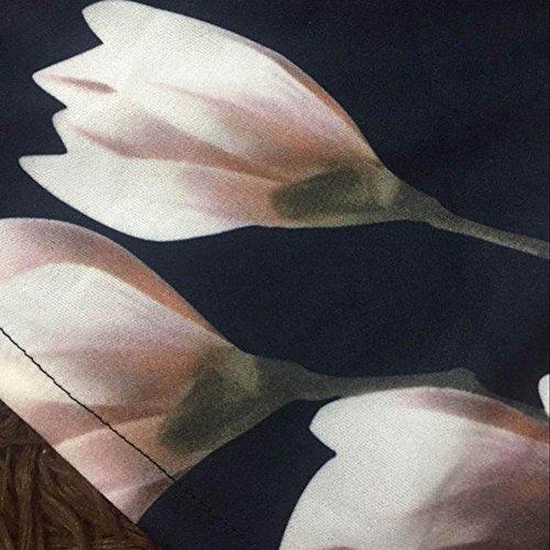 Stampato Juleya Come Donna Elegante Fiore Mostrato Posteriore xl Vita A Corti Con S Shorts Moda Alta Cerniera Pantaloni Casuale 1OqfRnWwT1