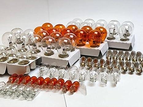 90x Stück Werkstattware 12v Kfz Beleuchtung 10x P21 5w 10x P21w 10x Py21w 10x R10w 10x W16w 10x W5w 10x Wy5w 10x C5w 10x C10w Glühlampe Glassockellampe Glühbirne Soffitte Autolampen Inion Amazon De