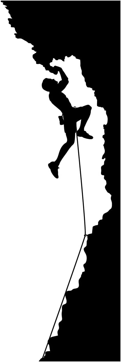 Rock Climbing Wall Decal Sticker 4 - Decal Stickers and Mural for Kids Boys Girls Room and Bedroom. Mountain Climbing Climber Wall Art for Home Decor and Decoration - Rock Climber Silhouette Mural