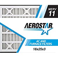 Aerostar 16x25x3 Trion Air Bear MERV 11 Air Bear Replacement Pleated Air Filter, Pleated (Pack of 3)