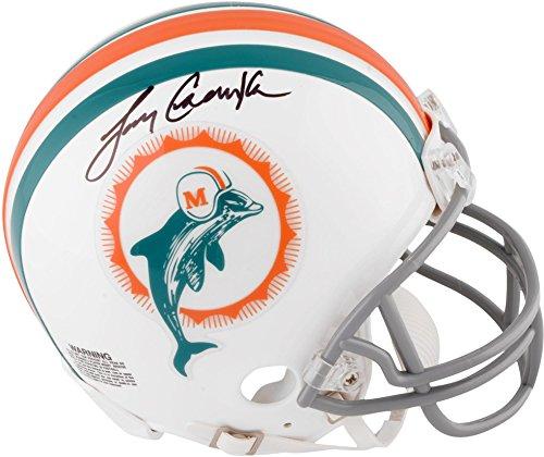 Larry Csonka Miami Dolphins Autographed Riddell Throwback Mini Helmet - Fanatics Authentic ()