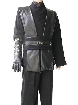 Amazon.com  Deluxe Black Anakin Star Wars Jedi Sith Costume Tunic Robe Belt  Pouchs Capsules  Clothing 41558816a