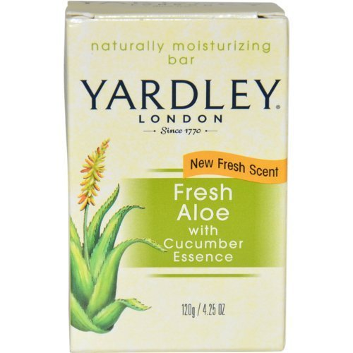 スタンドフレッシュ持ってるFresh Aloe with Cucumber Essence Bar Soap Soap Unisex by Yardley, 4.25 Ounce (Packaging May Vary) by Yardley [並行輸入品]